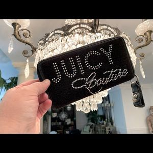 JUICY COUTURE WALLET-Silver & Black- AUTHENTIC